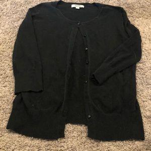Merona black 3/4 sleeve cardigan